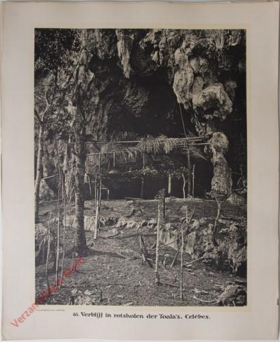 64 - Verblijf in rotsholen der Toala's. (Celebes)