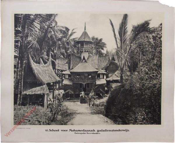 68 - School voor Mohammedaansch godsdienstonderwijs. (Padangsche Bovenlanden)