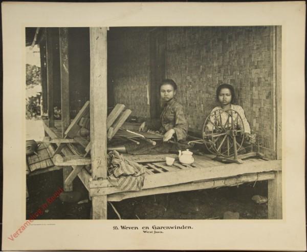 95 - Weven enspinnen. (West-Java)