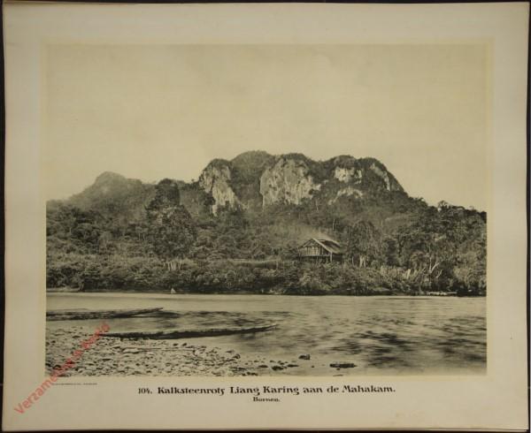 104 - Kalkstenrots Liang Karing aan de Mahakam. (Borneo)