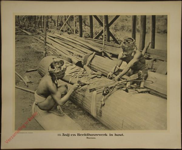 113 - Snij- en Beeldhouwwerk in hout. (Borneo)