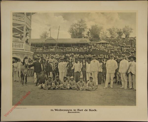116 - Wedrennen te Fort de Kock. (Sumatra)
