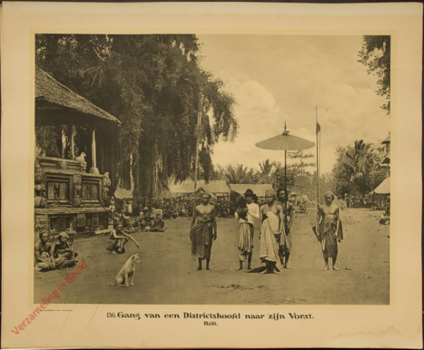 130 - Gang van een Districtshoofd naar zijn Vorst. (Bali)