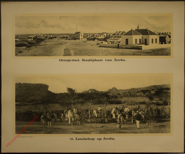 155 - Oranjestad, hoofdplaats van Aruba. Landschap Aruba