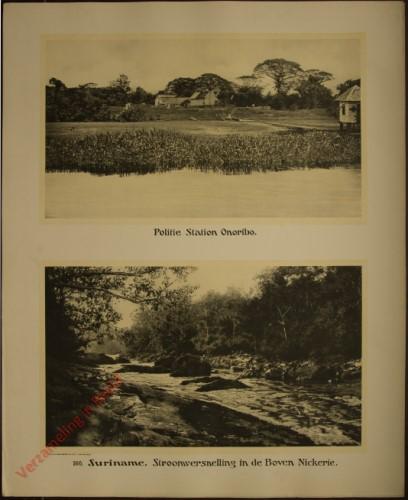 166 - Suriname. Politie-station Onoribo. Stroomversnelling in de Boven Nickerie