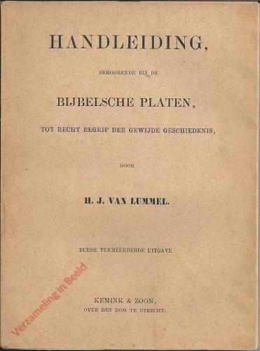 Derde vermeerderde uitgave - Handleiding behoordende bij de Bijbelsche Platen tot recht begrip der gewijde geschiedenis