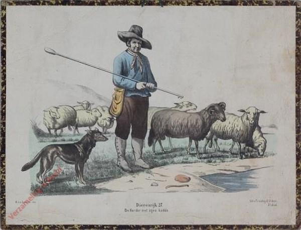 Eerste reeks. No. 27 [1e druk] - Dierenrijk. De Herder met zijne kudde