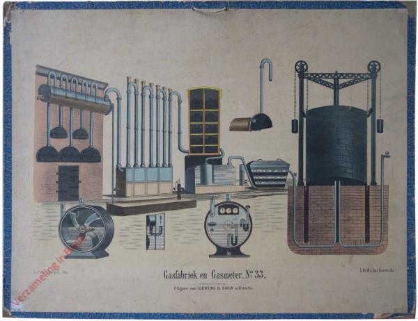Tweede reeks. No. 33 [1e druk] - Gasfabriek en gasmeter