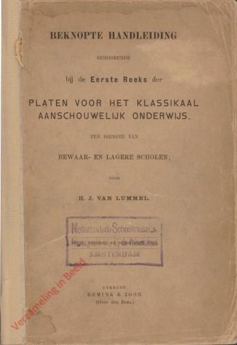 6e Nieuwe, zeer gewijzigde druk - Beknopte handleiding behoordende bij de Eerste Reeks der Platen voor het klassikaal aanschouwe