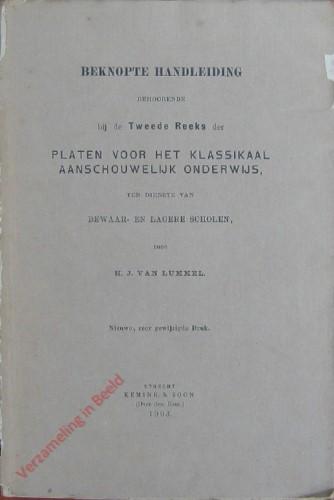 [6e] Nieuwe, zeer gewijzigde druk - Beknopte handleiding behoordende bij de Tweede Reeks der Platen voor het klassikaal aanschou
