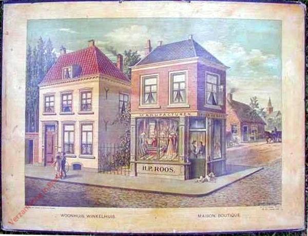 Serie I. No. III. [var T1] - Woonhuis. Winkelhuis. Maison. Boutique