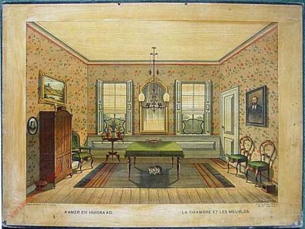 Serie I. No. IV. [var T1] - Kamer en huisraad. La chambre et les meubles [Poesje kijkt naar links]
