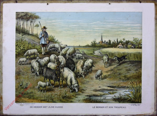 Serie I. No. XIX. [var T1] - De herder met zijne kudde. Le berger et son troupeau