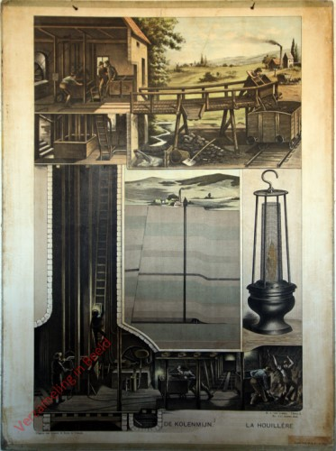 Serie I. No. XXI. [var T1] - De kolenmijn. La houillere