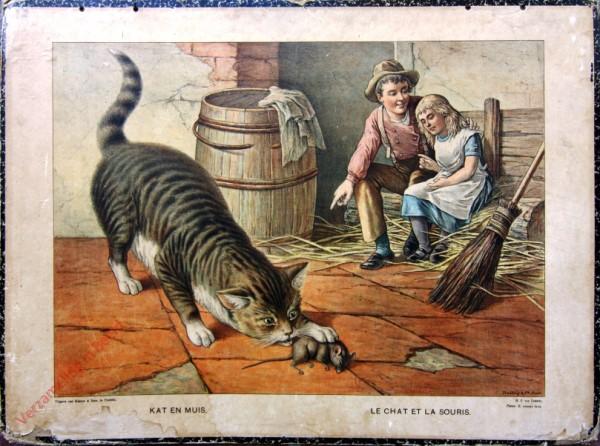 Serie II. No. XVIII. [var T1] - Kat en Muis. Le chat et la souris