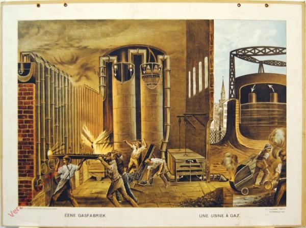 Serie II. No. XXVIII. [var T1] - Eene gasfabriek. Une usine � gaz