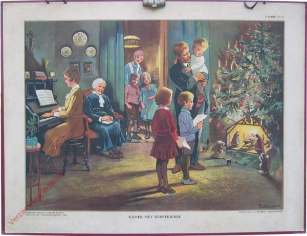 1e Serie, 2, 2e druk - Kamer met kerstkribbe [2e druk]