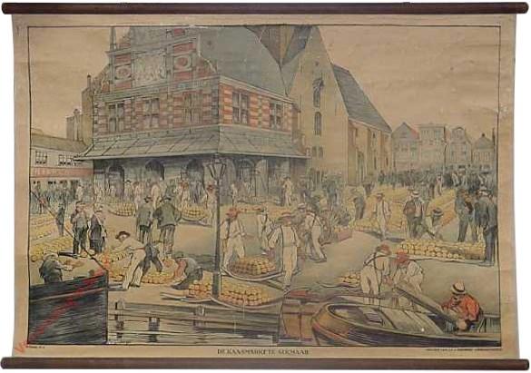 1e serie, 3 - De kaasmarkt te Alkmaar