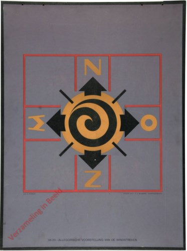 VII-23 - Allegorische voorstelling van de windstreken