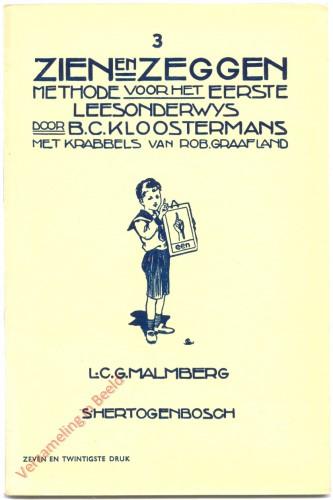 Nr 3, 27ste druk - Zien en Zeggen, methode voor het eerste leesonderwijs