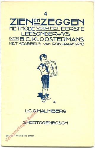 Nr 4, 26ste druk - Zien en Zeggen, methode voor het eerste leesonderwijs