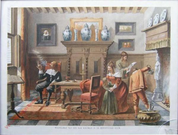 Woonkamer van een rijk koopman in de zeventiende eeuw