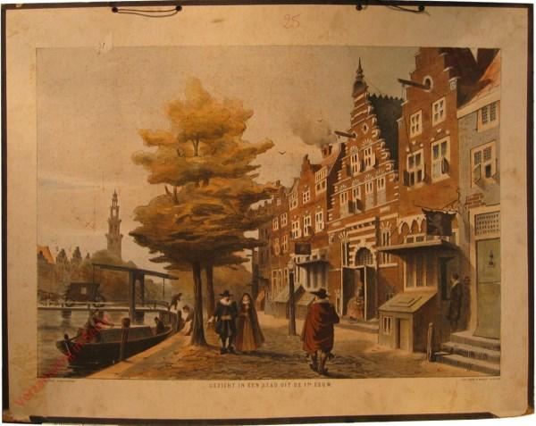 Gezicht in een stad uit de 17e eeuw