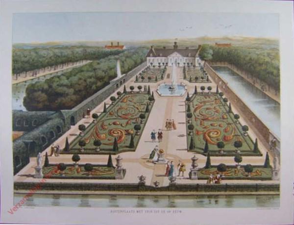 Buitenplaats met een tuin in de 18e eeuw