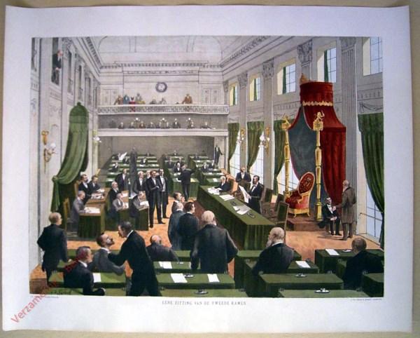 Eene zitting van de Tweede Kamer