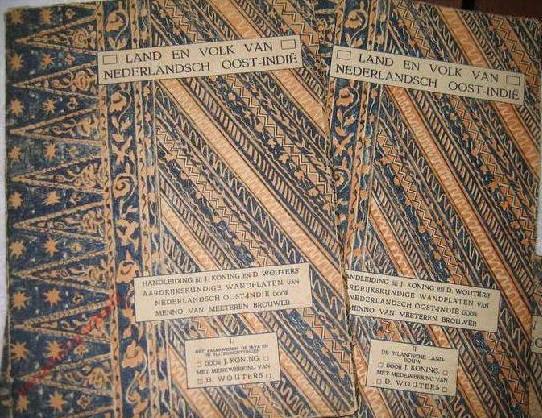 Beschrijving van 8 delen in 1. Land en volk van Nederlandsch Oost-Indië, I-VIII. Handleiding bij aardrijkskundige wandplaten van