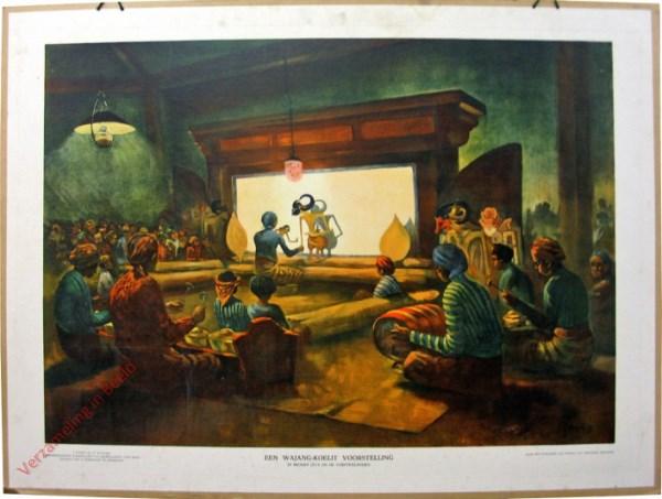 8 - Een Wajang-koelit voorstelling in Midden-Java