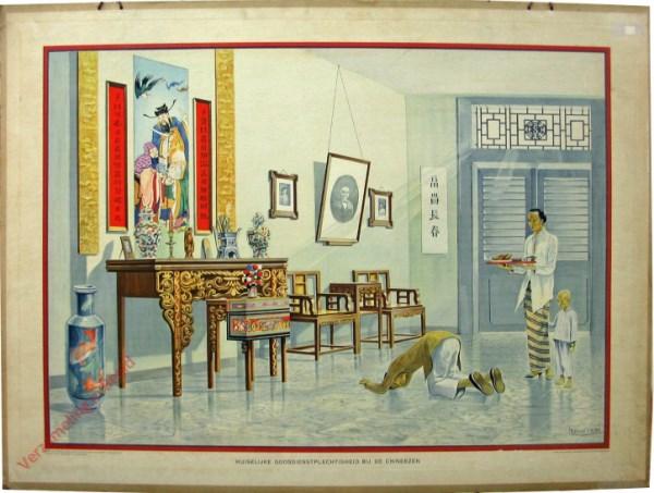 10 - Huiselijke godsdienstplechtigheid bij de Chineezen. Java