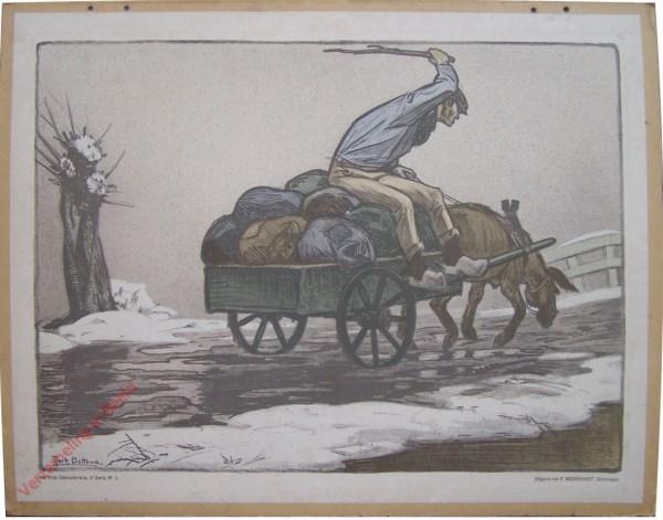 Derde serie, Nr 2 - De koppige Ezel; b. Hard Werken is zijn Straf