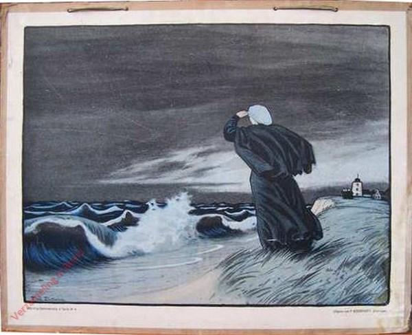 Vierde serie, Nr 8 - Het Visschersleven; b. Storm