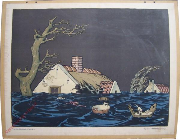 Vierde serie, Nr 9 - Drijvende Wieg. a. Overstrooming