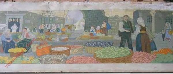 Een markt in Zuid-Slavie