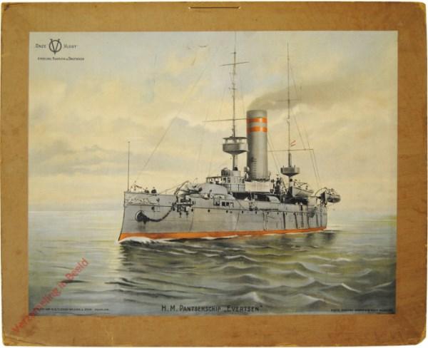 """1e serie, nr 1 - H.M. Pantserschip """"Evertsen"""""""