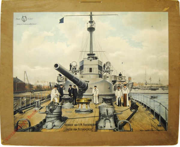 1e serie, nr 2 - Voordek van H.M. Pantserschip Jacob van Heemskerck