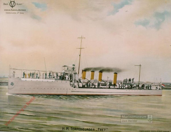 2e serie, nr 3 - De torpedojager Hr.Ms. 'Fret'