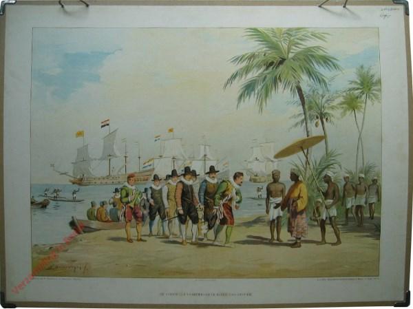 2e serie, nr5 - De eerste Oost Indie vaarders op de reede van de Bantam