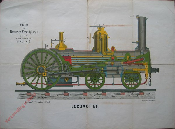 1e serie, No. 9 - Locomotief