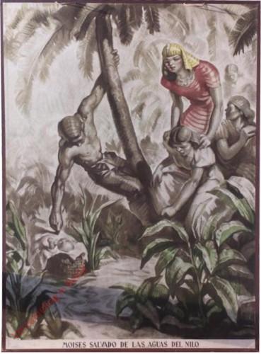 Moises salvada de las aguas del Nilo