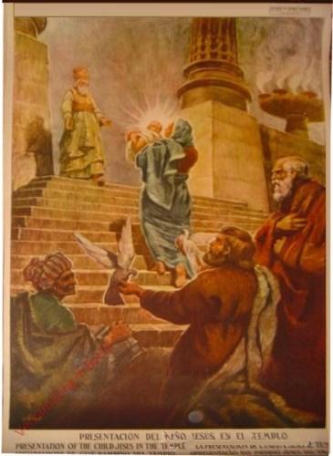 Presentacion de nino Jesus en el templo
