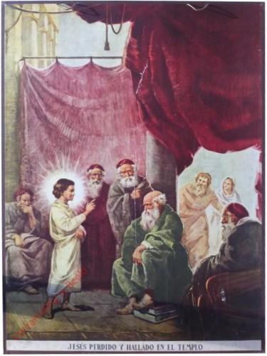 Jesus perdido y hallado en templo