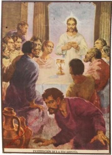 Institucion de la eucaristia