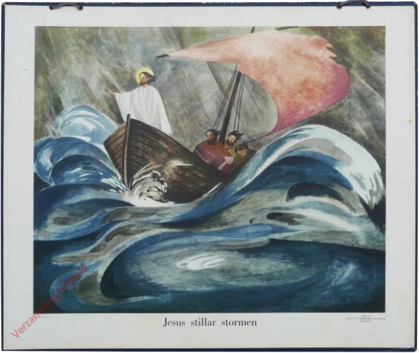Jesus stillar stormen